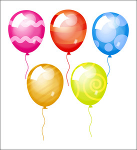 Decorative Designs Of Colorful Balloons