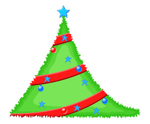 Decorative Festive Christmas Tree