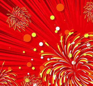 Decorative Fireworks Vector Background