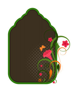 Decorative Floral Christmas Banner