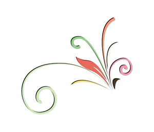 Decorative Floral Element Vector Art Design