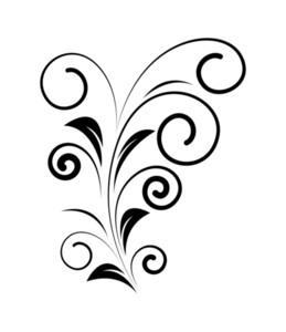 Decorative Floral Vector Shape Design