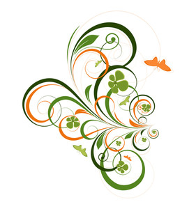 Decorative Flourish Butterfly Background