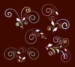 Decorative Flourish Design Elements