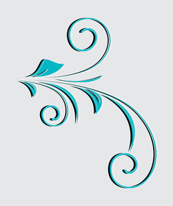 Decorative Flourish Element Vector Art Design