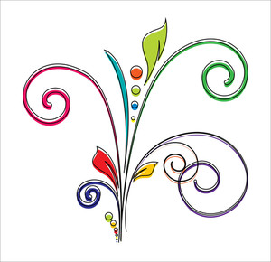Decorative Flourish Vector Design Element