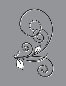 Decorative Flourish Vector Silhouette