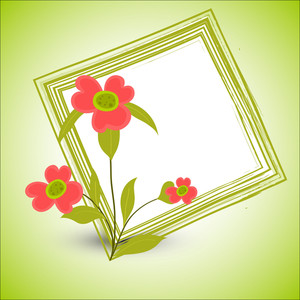 Decorative Flower Grunge Christmas Frame Vector