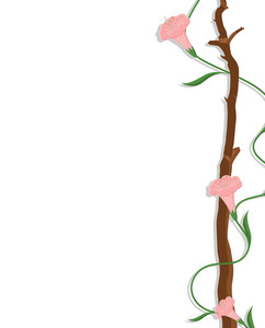 Decorative Flowers Border