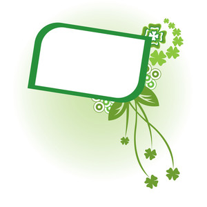 Decorative Frame For Sample Text With Clover Design Elements