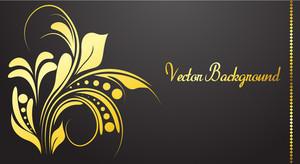 Decorative Golden Floral Template