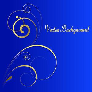 Decorative Golden Floral Vector Background