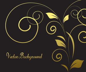Decorative Golden Flourish Banner