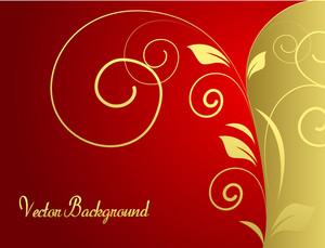 Decorative Golden Flourish Banner