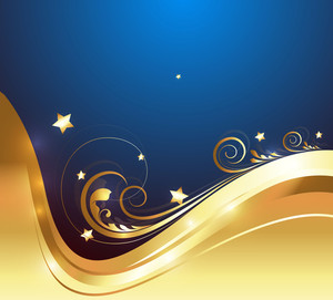 Decorative Golden Ornate Background