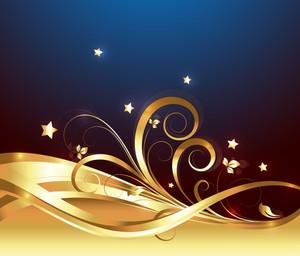 Decorative Golden Ornate Background