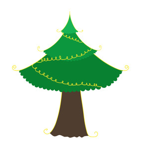 Decorative Green Christmas Tree Shape