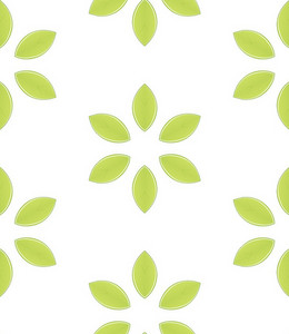 Decorative Green Florals Background