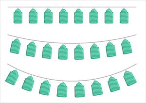 Decorative Hanging Tags Elements
