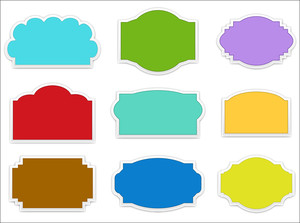Decorative Labels And Boxes Vectors