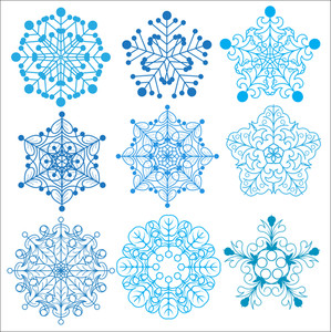 Decorative Ornament Snowflakes Set