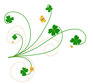 Decorative Patrick's Day Floral Elements