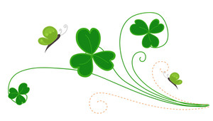 Decorative Patrick's Day Flourish Element