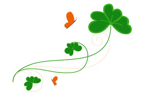 Decorative Patrick's Day Flourish Vector Element
