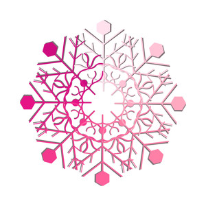 Decorative Pink Snowflake