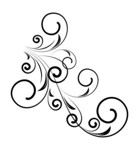 Decorative Retro Floral Shape Vector Design