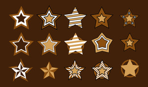 Decorative Retro Stars Collection