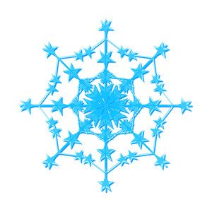 Decorative Snowflake Design Art