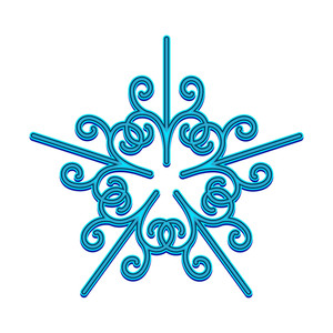 Decorative Snowflake Element