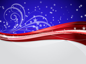 Decorative Sparkles Wavy Flourish Background