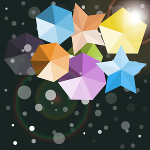 Decorative Stars And Elements Background
