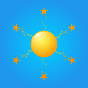 Decorative Stars Sun Icon
