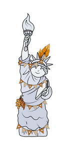 Decorative Statue Of Liberty Character Vector