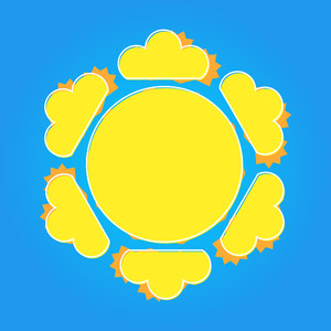 Decorative Sun Design Banner