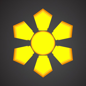 Decorative Sun Design Element