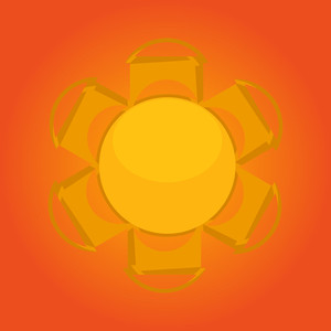 Decorative Sun Design