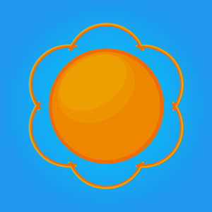 Decorative Sun Icon Element