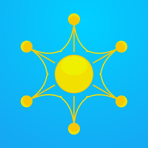 Decorative Sun Star Vector
