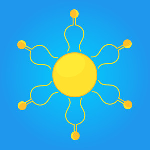 Decorative Sun Vector Design