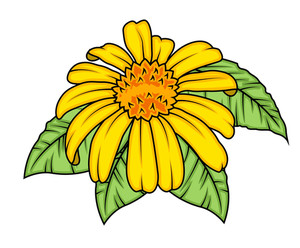 Decorative Yellow Flower