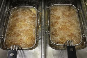 Deep Frying Chipped Potatoes