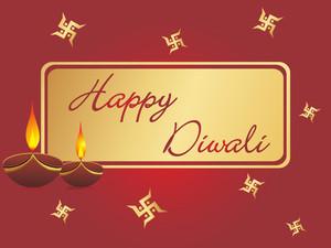 Deepawali Background With Deepak