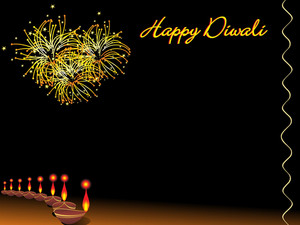 Deepawali Background With Deepak