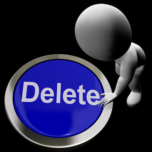 Delete Button For Erasing Or Deleting Trash