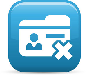 Delete Contact Elements Glossy Icon