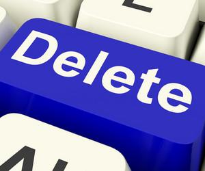 Delete Key In Blue To Erase Trash